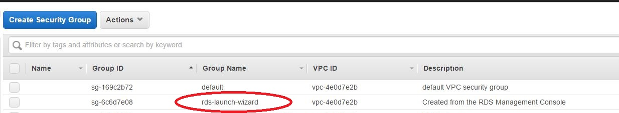 Connect to an AWS RDS instance inside a VPC using MySQL