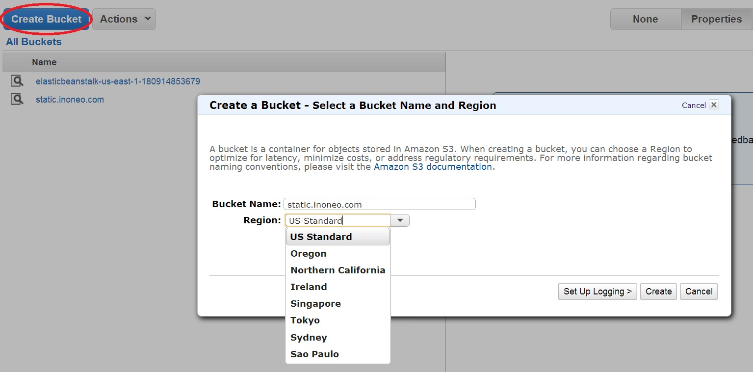 Map a sub-domain to an Amazon S3 bucket